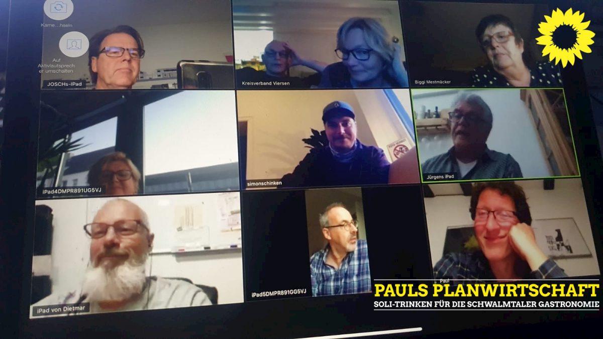 Screenshot mit 9 grünen Mitgliedern