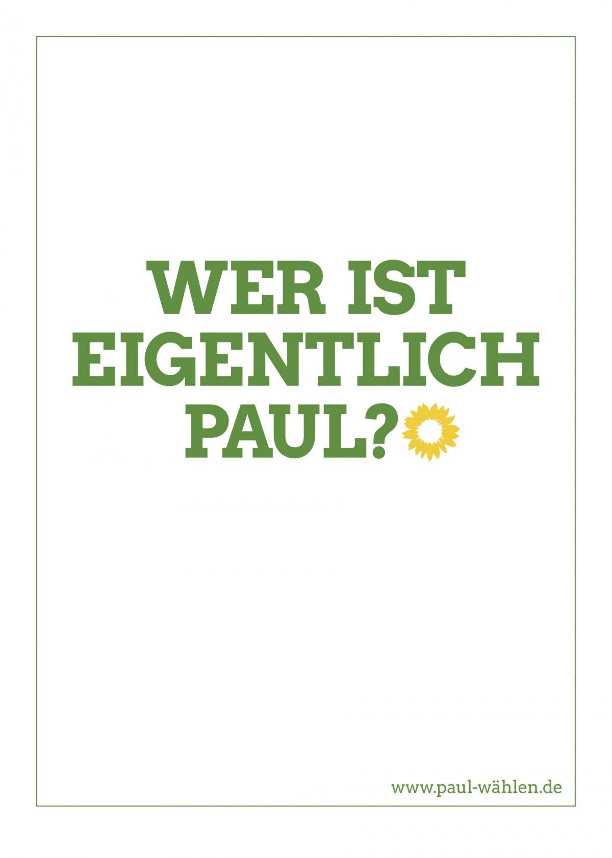 Anzeige wer ist eigentlich Paul?